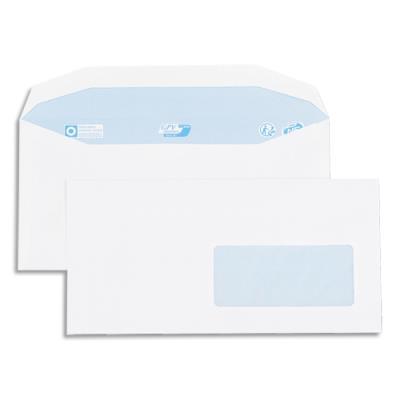 Enveloppes GPV pour mise sous pli automatique - 115x225mm - blanches - fenêtre 45x100 - 80g - boîte de 1000 (photo)