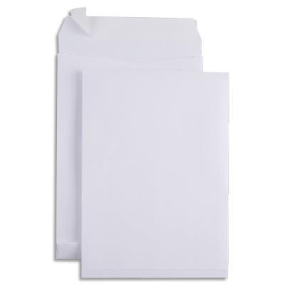 Pochettes kraft armé blanc GPV - 3 soufflets 3 cm - 229 x 324 mm -  boite de 100 pochettes (photo)