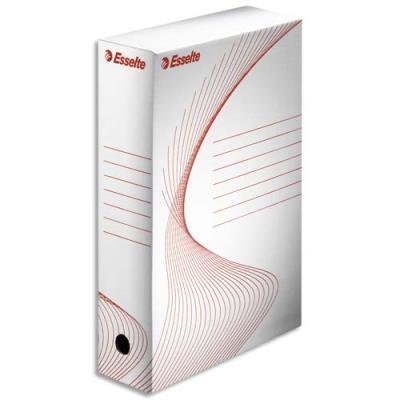 Boîtes archives Esselte Boxy - dos 8 cm - blanc - lot de 5 boîtes