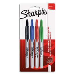 Marqueur permanent Sharpie Pro - rétractable - pointe ogive - coloris assortis standard