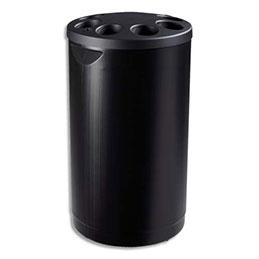 Collecteur Rossignol Multigob - polyéthylène - diamètre 39cm - hauteur 70 cm - noir (photo)