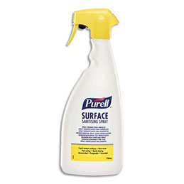 Désinfectant surfaces Purell - 750 ml - bactéricide, fongicide, virucide, sans rinçage - sans parfum - spray (photo)