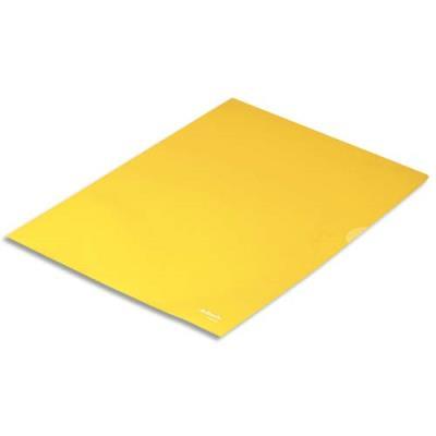 Boîte de 100 pochettes-coin Esselte Copy Safe - jaune en polypropylène 11/100e (photo)