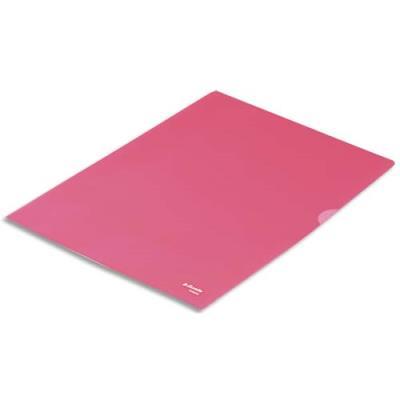 Boîte de 100 pochettes-coin Esselte Copy Safe - rouge en polypropylène 11/100e (photo)
