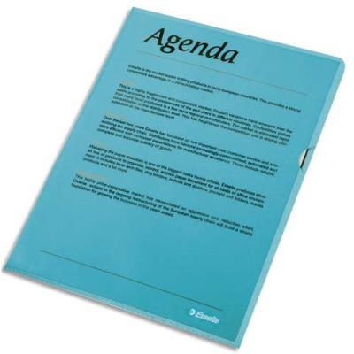 Boîte de 100 pochettes-coin Esselte Copy Safe - bleu en polypropylène 11/100e (photo)