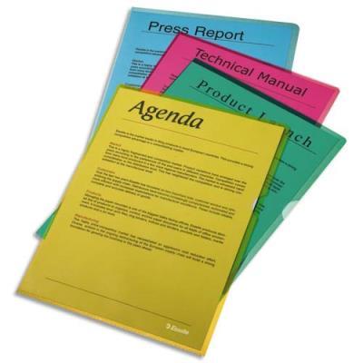 Boîte de 100 pochettes-coin Esselte Copy Safe vert en polypropylène 11/100e (photo)