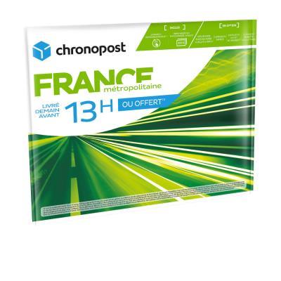 Enveloppe Chronopost 13h avec option boîte à lettre - 36x27cm (photo)