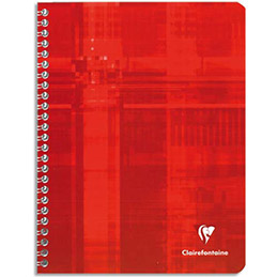 Cahier Clairefontaine Metric - reliure spirales - 17 x 22cm - 180 pages - grands carreaux - papier 90g