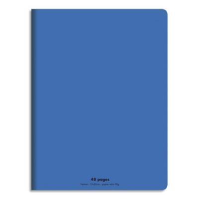 Cahier éco - piqué - couverture polypro - 48 pages - 17x22 cm - 90g - grands carreaux - bleu (photo)