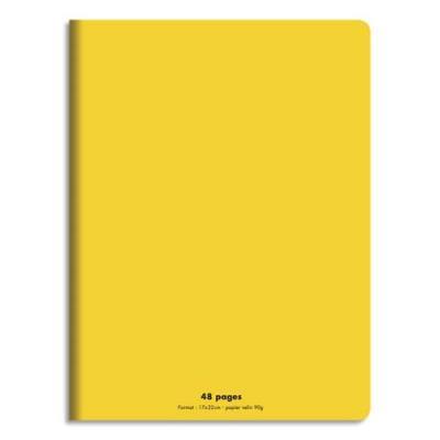 Cahier éco - piqué - couverture polypro - 48 pages - 17x22 cm - 90g - grands carreaux - jaune (photo)