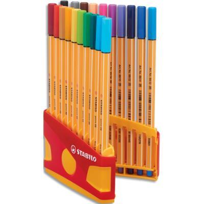 Stylo feutre Point 88 ColorParade - P8 - boîte de 20 - coloris assortis