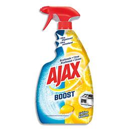 Spray nettoyant Ajax Boost - pour cuisine -  ultra dégraissant au bicarbonate - parfum citron (photo)