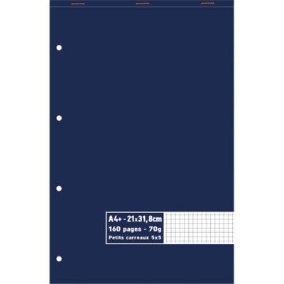 Bloc 5 Etoiles - agrafé en tête - 70 g - A4+ 21 x 31,8 cm - 5x5 - 160 pages (photo)