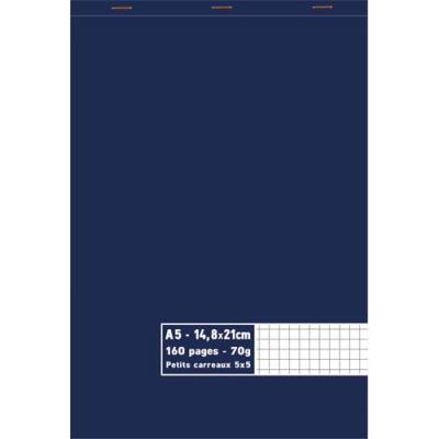 Bloc 1er prix - agrafé en tête - 70 g - A5 14,8 x 21 cm - 5x5 - 160 pages (photo)