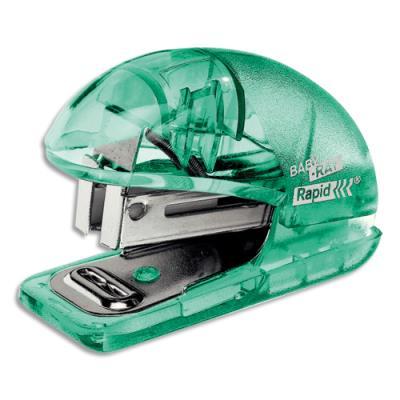 Mini agrafeuse Esselte Colour'Ice - avec ôte agrafes - agrafes 24/6 - capacité 10 feuilles - vert translucide