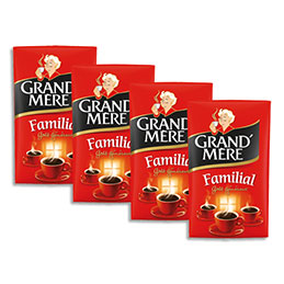 Café moulu Grand Mère Familial Robusta - 250 g - 4 paquets (photo)