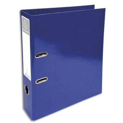 Classeur à levier Exacompta Iderama - en carton pelliculé - dos 7 cm - A4+ - bleu