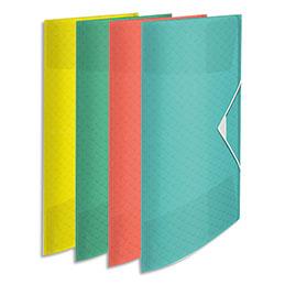 Chemise 3 rabats élastiques Esselte Colour'Ice - polypropylène 5/10ème - coloris assortis