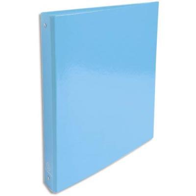 Classeur 4 anneaux Exacompta Iderama - en carte 18/10e - dos 4 cm - A4 - bleu clair