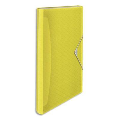 Trieur à rabat Esselte Colour'Ice - polypropylène 6/10ème - 6 compartiments - jaune