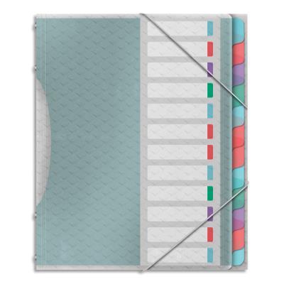 Trieur Esselte Colour'Ice - polypropylène 6/10ème - 6 compartiments - coloris assortis