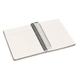 Cahier spirales Leitz Office - A5 - 180 pages 90 g - 5x5 - couverture carte gris décors assortis