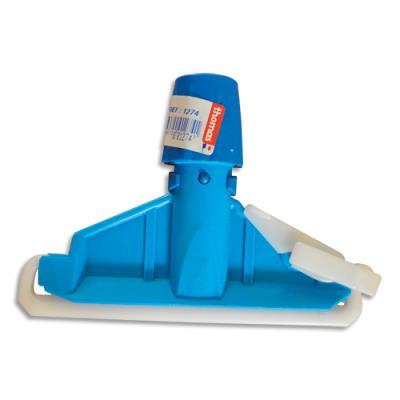Pince pour frange faubert Brosserie Thomas - polypropylène et nylon - L17,5 x H14 x P5 cm - bleu