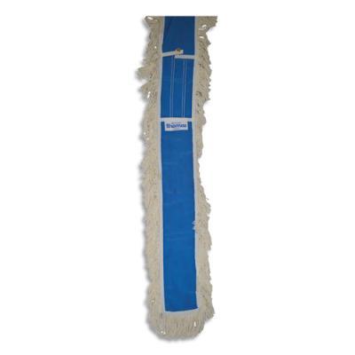 Franges Brosserie Thomas Complet pro - coton écru - pour balais ciseaux - 2 x 1 mètre - boutons pression bleus - lot de 2