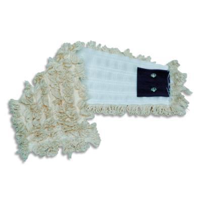 Frange de rechange Brosserie Thomas - coton à bouclettes - 40 x 17 cm - v - blanc