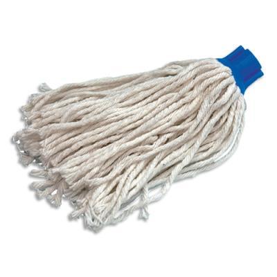 Mini Frange espagnole - coton 80% syntéthique 20% - 220 g - douille à vis pour balai - blanc (photo)