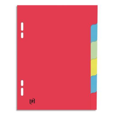 Intercalaires touches neutres - carte 180g - 17x22 cm - 6 positions - coloris assortis