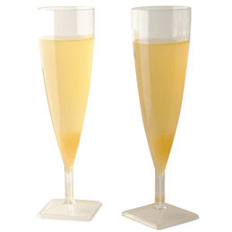 Flutes à champagne cristal - paquet de 10 (photo)