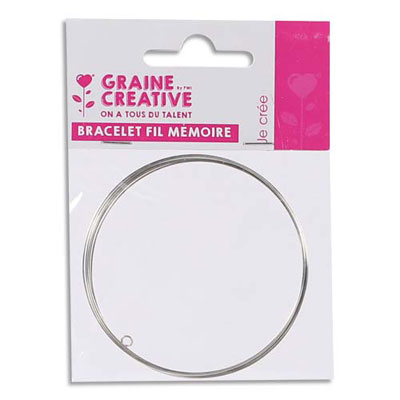 Bracelet Graine Créative - fil mémoire -  à décorer - lot de 5 tours (photo)