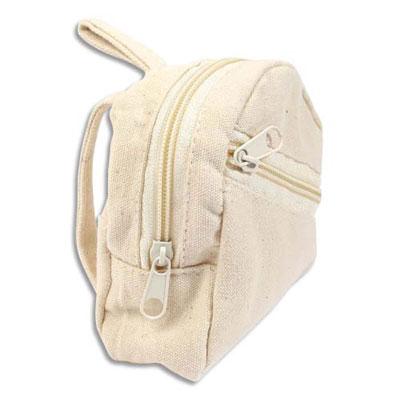 Porte monnaie Graine Créative - tissu - forme sac à dos - 75x90x30 mm - à décorer (photo)