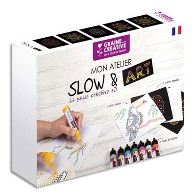 Crayons + 10 cartes animaux et mandala - coffret de 8 (photo)