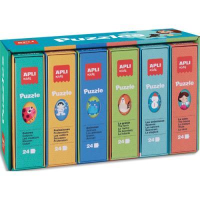 Présentoir Agipa - 6 puzzles - 24 pièces assortis