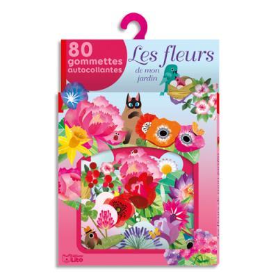 Gommettes Lito Diffusion - thème les fleurs du jardin - lot de 100 (photo)