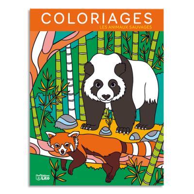 Livre de coloriage Lito Diffusion - 64 pages - 205x270 - thème animaux sauvages (photo)
