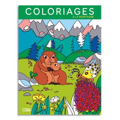 Livre de coloriage Lito Diffusion - 64 pages - 205x270 - thème à la montagne