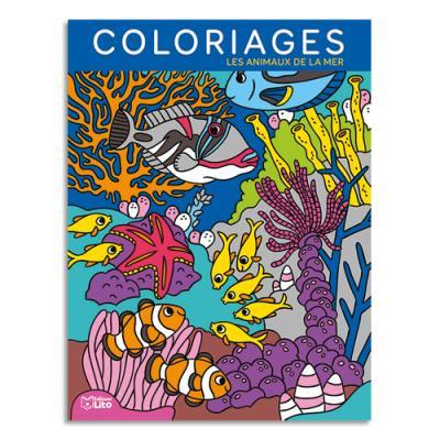 Livre de coloriage Lito Diffusion - 64 pages - 205x270 - thème les fonds marins
