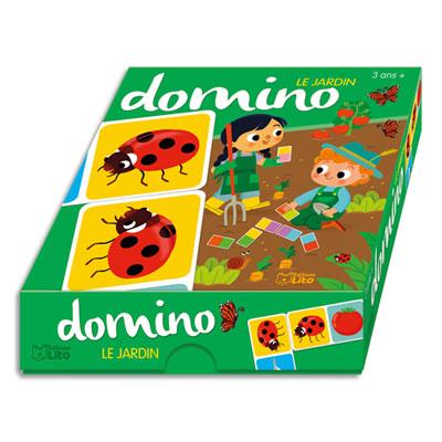 Jeu de dominos Lito Diffusion - 36 pièces - 130x130 - thème le jardin (photo)
