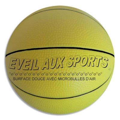 Ballon de basket First Loisirs - mousse de pvc - 17,8cm - 200g - éveil au sport - parfait pour apprendre (photo)