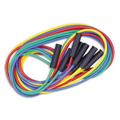 Maxi cordes à sauter - longueur 4 m - couleurs assorties - fabriqués en France - lot de 4 (photo)