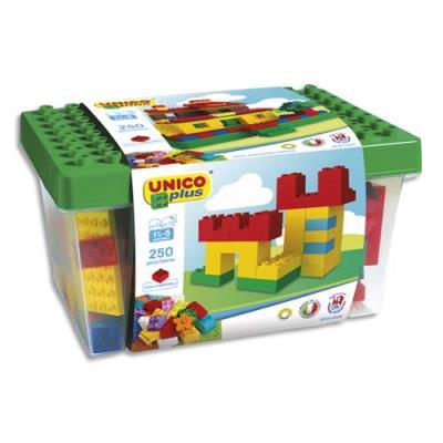 Briques de construction Unico - abs formes - couleurs assorties - baril de 250 (photo)