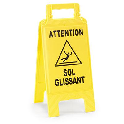 Chevalet de signalisation - Sol Glissant (photo)