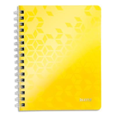 Cahier spirales Leitz Wow - A4 - 160 pages détachables 80 g - 5x5 - couverture polypropylène orange