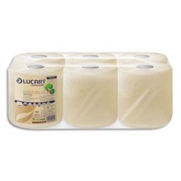 Bobines d'essuyage industrielles Lucart EcoNatural Havane - 2 plis - L112,5 m - 450 formats - colis de 6 (photo)