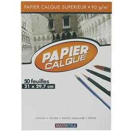 Papier calque uni Excellence - 90 g - A4 - bloc de 50 feuilles (photo)