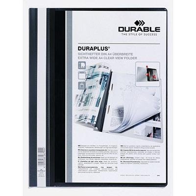 Chemise à lamelles Durable Duraplus en PVC - capacité 100 feuilles A4 - assortis - lot de 50 (photo)
