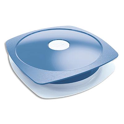 Assiette à déjeuner Maped Concept adulte - 900 ml - en PP - valve sur couvercle - étanche - bleu orage (photo)